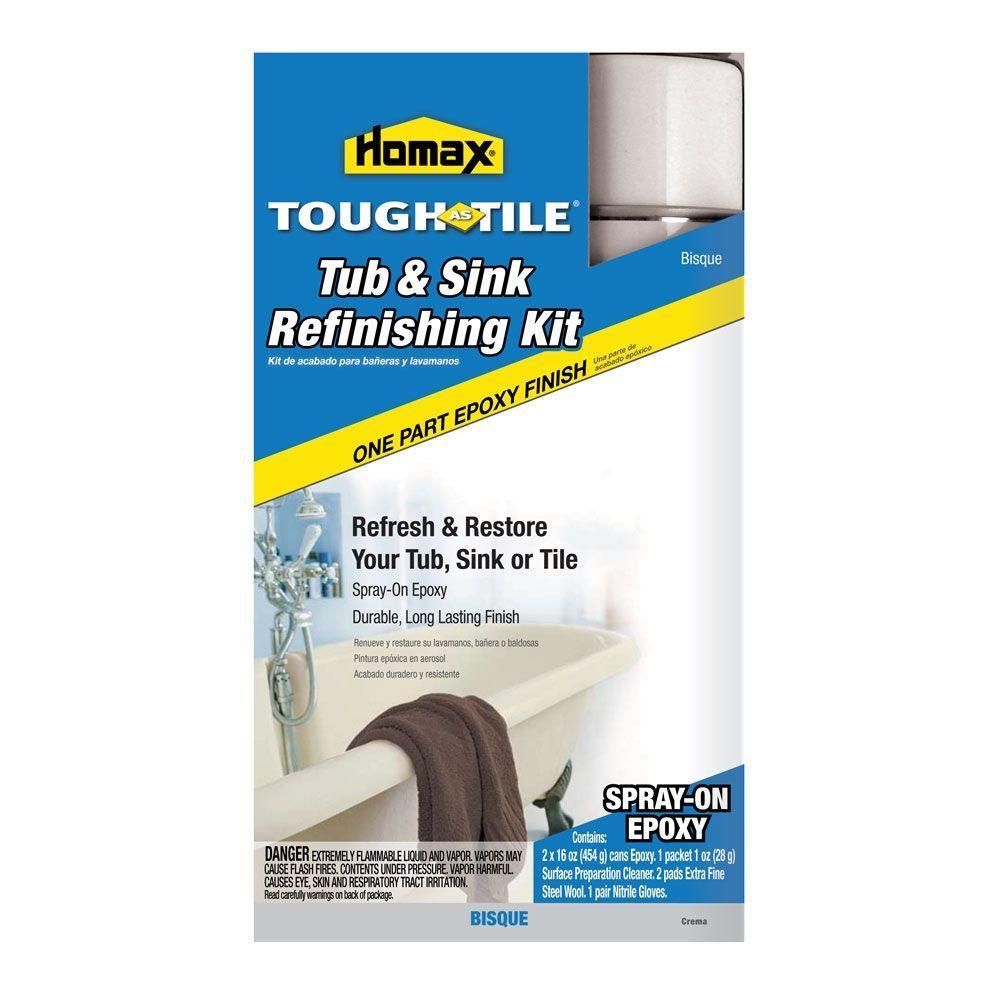 Homax 32 Oz. Bisque Tough As Tile One Part Epoxy Aerosol Kit (2 16 Oz.  Cans0 2107   The Home Depot