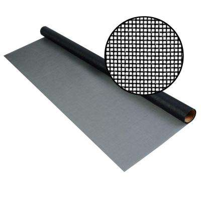 72 in. x 25 ft. Charcoal Fiberglass Screen 20 x 20 No-See-Um Mesh