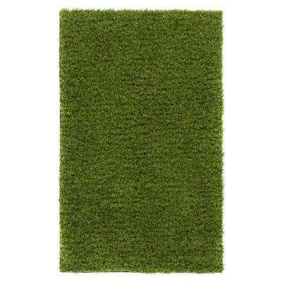 Arcadia 1 ft. 8 in. x 2 ft. 7 in. Artificial Grass Indoor/Outdoor Turf Green Rug