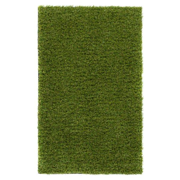 Arcadia 1 ft. 8 in. x 2 ft. 7 in. Turf Green Artificial Grass Rug