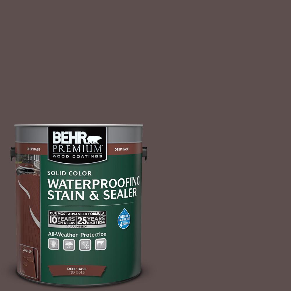 1 gal. #HDC-AC-07 Oak Creek Solid Color Waterproofing Exterior Wood Stain