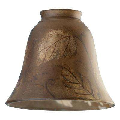 4-3/4 in. Hand-Painted Leaf Design Bell with 2-1/4 in. Fitter and 5-3/8 in. Width