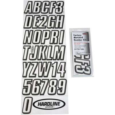 Hardline ROBLK320 320 Series Red//Black Marine Lettering Kit