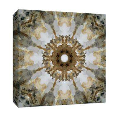 15 in. x 15 in. ''Kaleidoscope Honey Gray Agate'' By PTM Images Canvas Wall Art