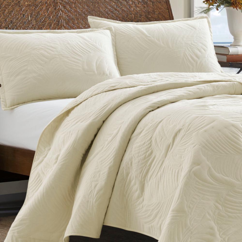 TB Solid Paradise Fronds Cotton Quilt Set