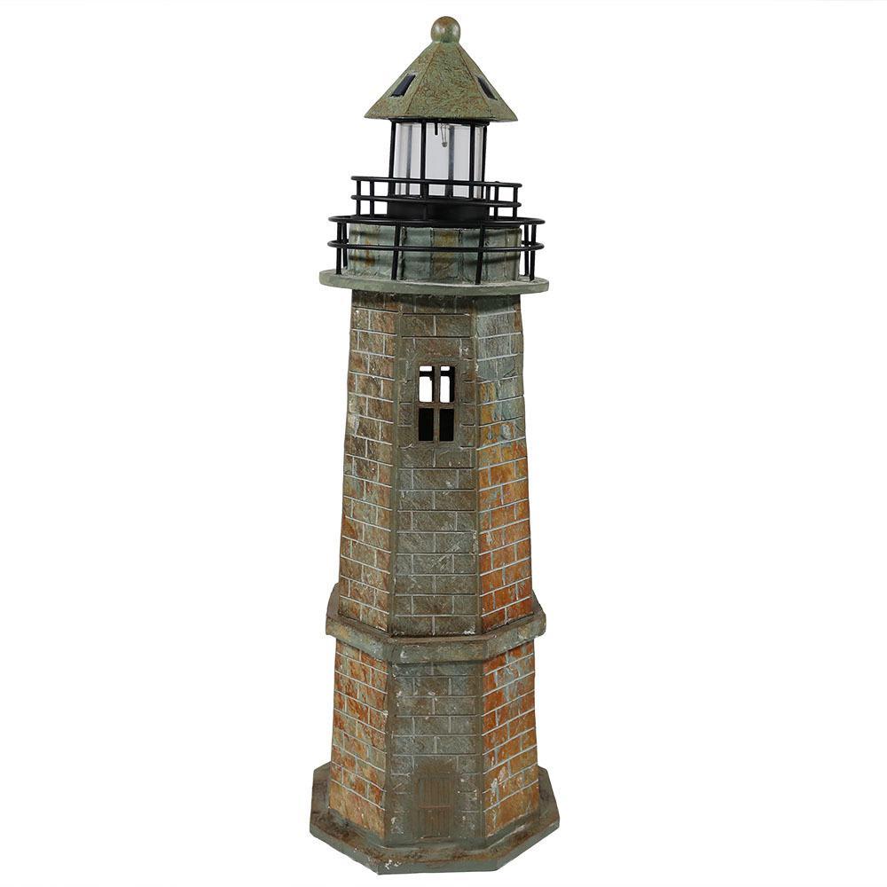 Solar LED Nautical Lighthouse Statue Decor