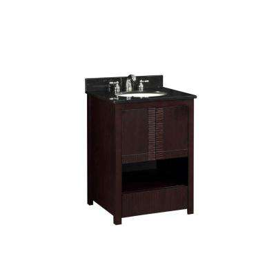 24 in. W x 34-1/4 in. H x 18 in. D Vanity Cabinet Only in Espresso