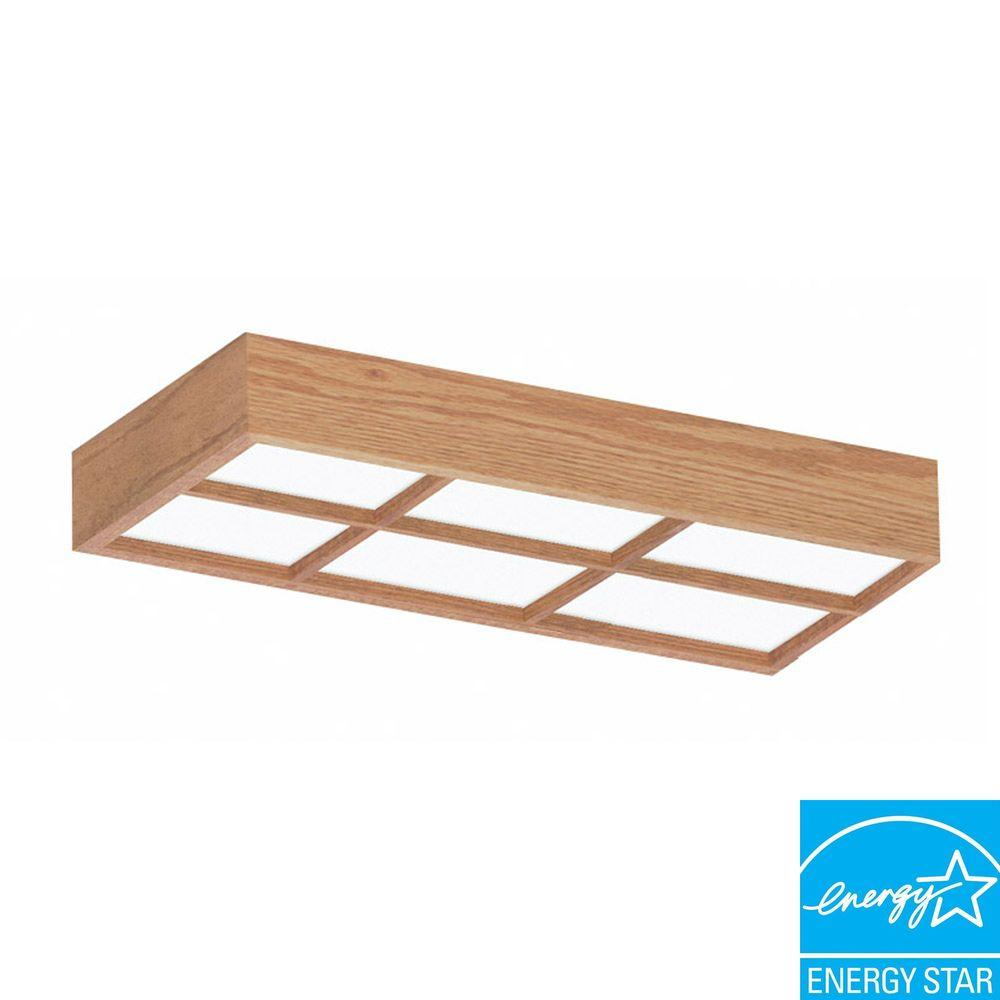 Aspects Decorative 2-Light Surface Mount Ceiling Oak Frame with Lattice -DISCONTINUED