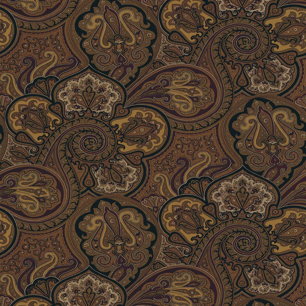 The Wallpaper Company 56 sq. ft. Brown Paddock Shall Wallpaper-DISCONTINUED