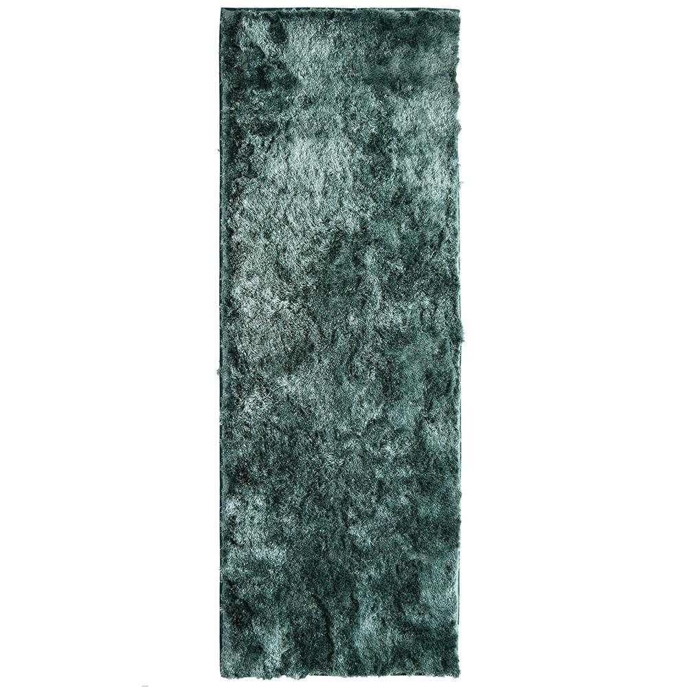 Home Decorators Collection So Silky Sky 4 ft. x 15 ft. Runner