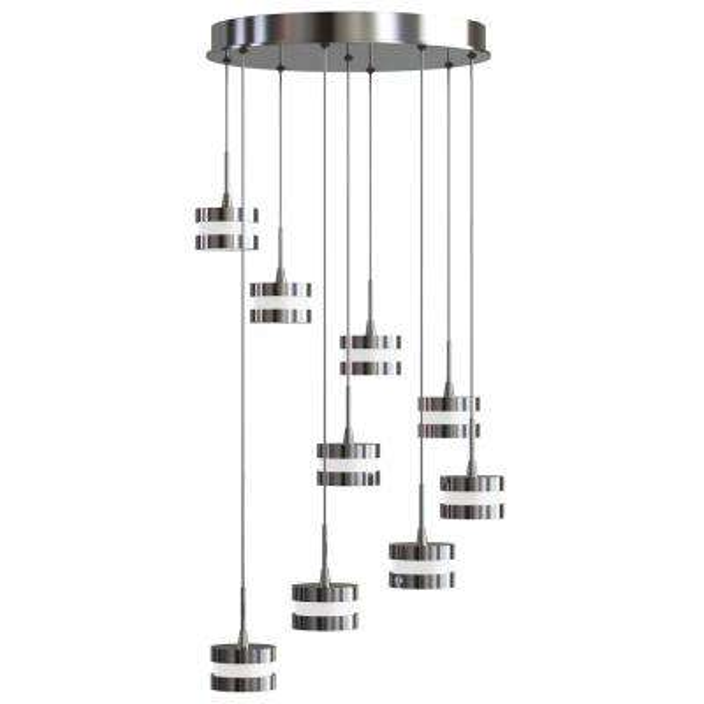 La Creme 36-Watt Chrome Integrated LED Pendant