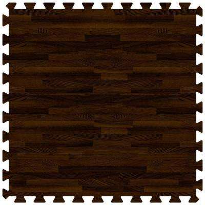 Walnut 24 in. x 24 in. Comfortable Wood Grain Mat (100 sq.ft. / Case)