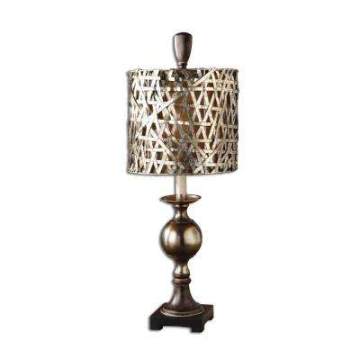 32 in. Gold Champagne Buffet Lamp
