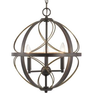 Brandywine Collection 3-Light Antique Bronze Pendant