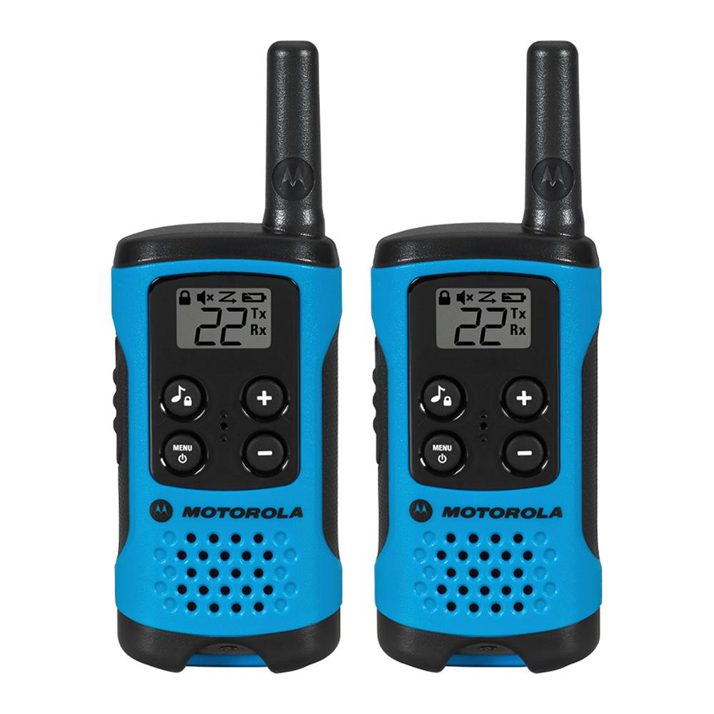 Motorola Talkabout T100 Alkaline 2-Way Radio, Neon Blue (2-Pack ...