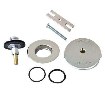 """QuickTrim Lift and Turn Bathtub Stopper and One Hole Overflow with Two """"O"""" Rings Trim Kit in Chrome Plated"""