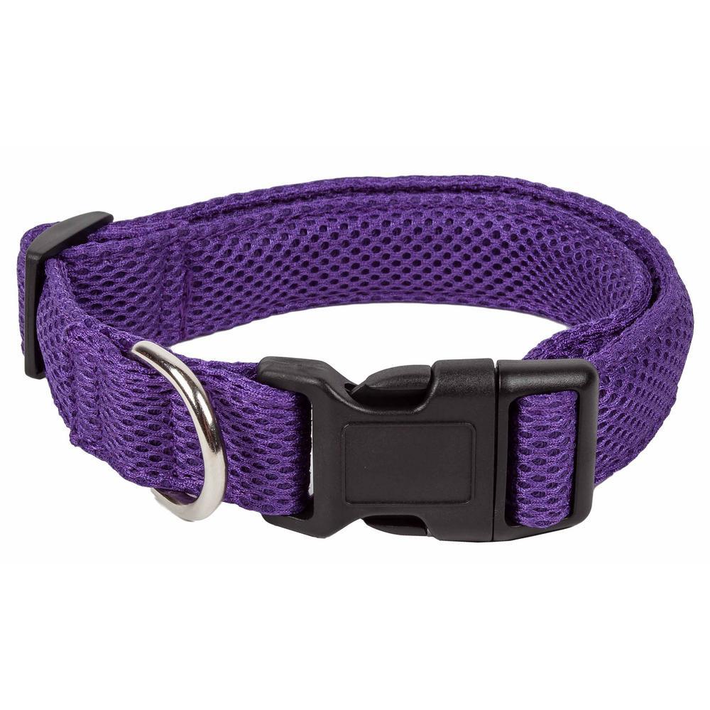 Aero Mesh 360-Degree Breathable Adjustable Mesh Dog Collar, Medium, Purple