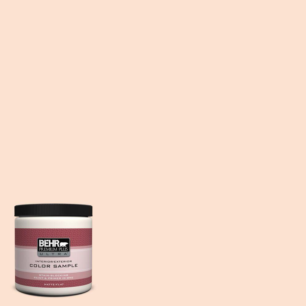 BEHR Premium Plus Ultra 8 oz. #PPL-21 Sweet Peach Interior/Exterior Paint Sample