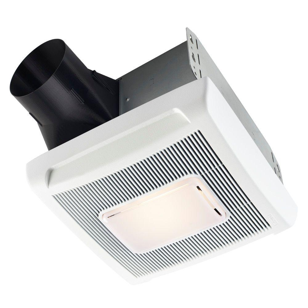 Nutone Invent Series 80 Cfm Ceiling Exhaust Bath Fan With Light