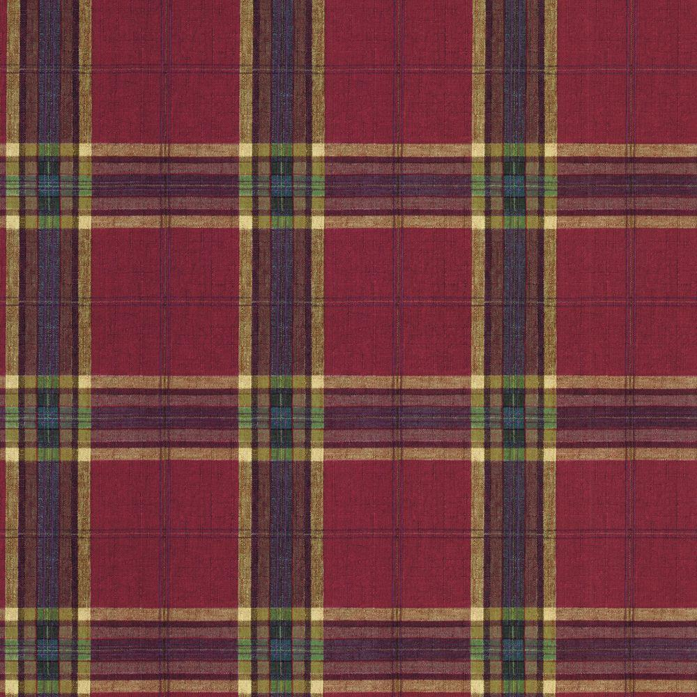 The Wallpaper Company 56 sq. ft. Red Country Plaid Wallpaper