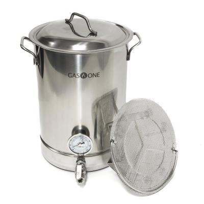 Brew Kettle Complete Kit 32 qt. Stainless Steel Stock Pot