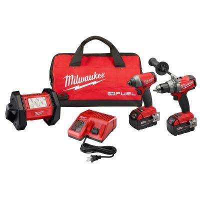 M18 FUEL ONE-KEY 18-Volt Lithium-Ion Brushless Cordless Combo Kit (3-Tool) w/(2) 5.0Ah Batteries, Charger, (1) Tool Bag