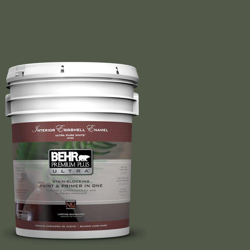 BEHR Premium Plus Ultra 5-gal. #430F-7 Windsor Moss Eggshell Enamel Interior Paint