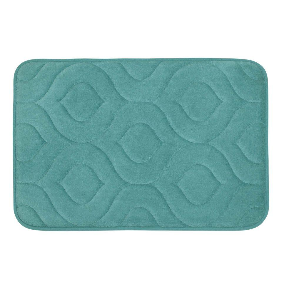 Naoli Marine Blue 20 in. x 30 in. Memory Foam Bath