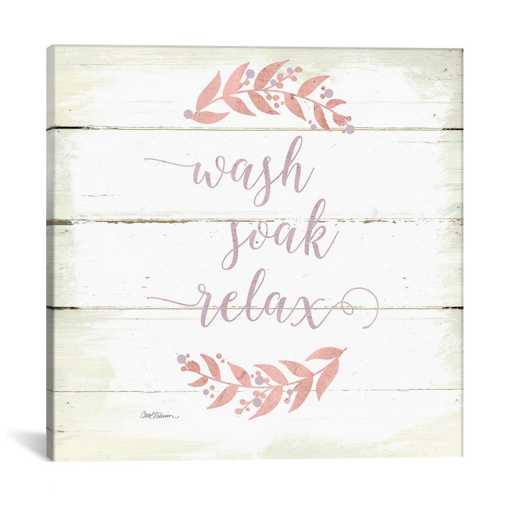 """""""Wash Soak Relax"""" by Carol Robinson Canvas Wall Art"""
