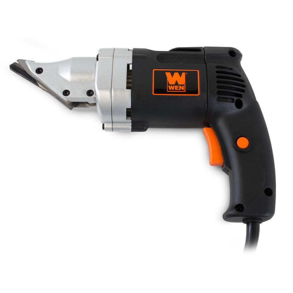metal shear. wen 4 amp 18-gauge variable speed swivel head electric metal shear-3650 - the home depot shear a