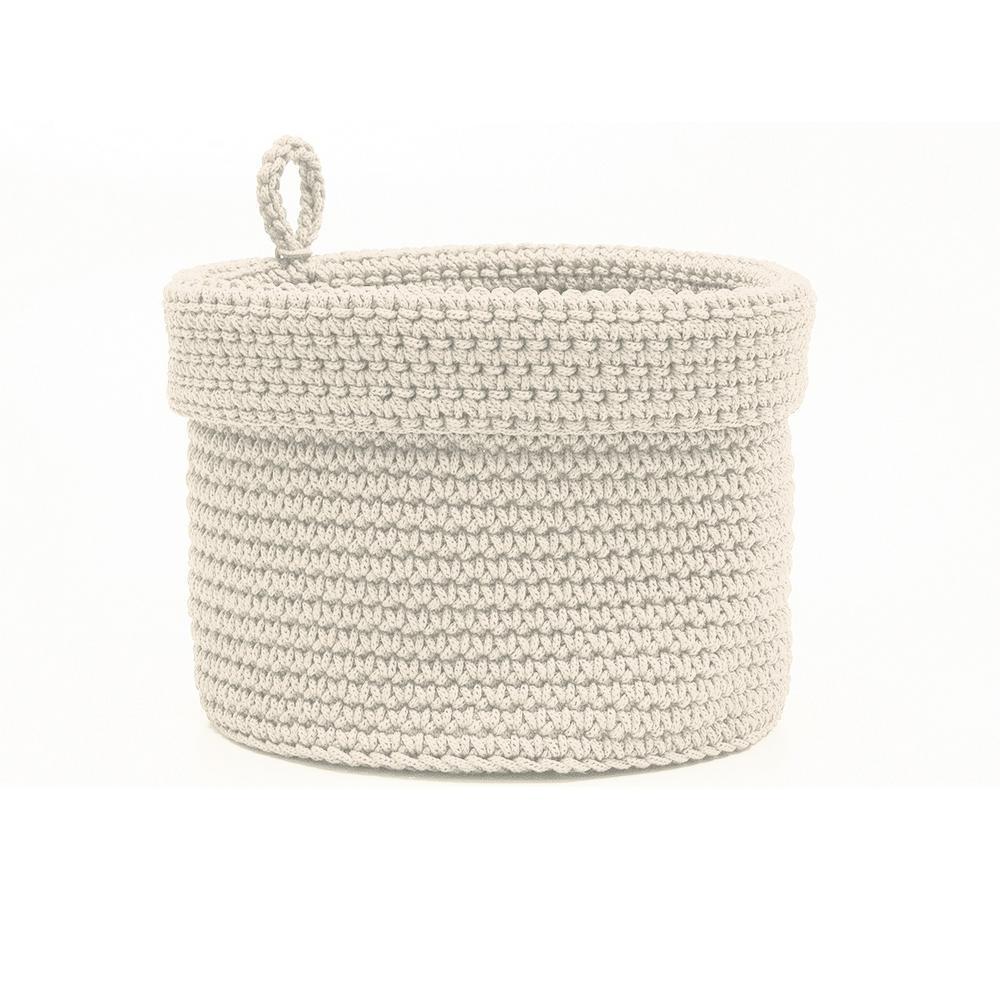 Heritage Lace Mod Crochet Round Polypropylene Basket, Bei...