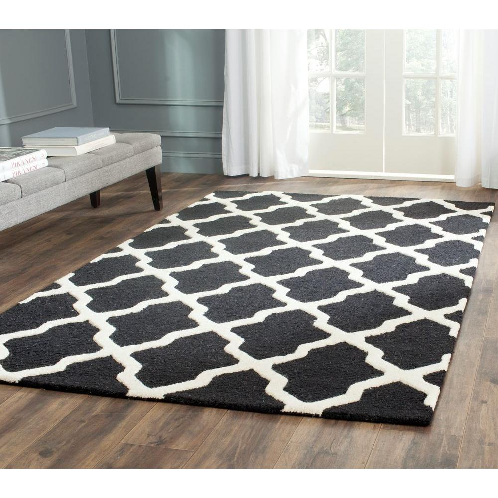 Safavieh Cambridge Black/Ivory 7 Ft. 6 In. X 9 Ft. 6 In