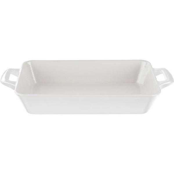 La Cuisine Large Deep Cast Iron Roasting Pan with Enamel Finish