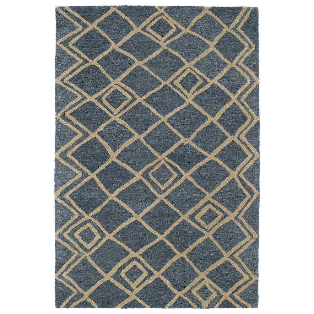Kaleen Casablanca Blue 8 ft. x 11 ft. Area Rug