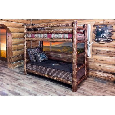 Glacier Country Twin Over Twin Wood Bunk Bed