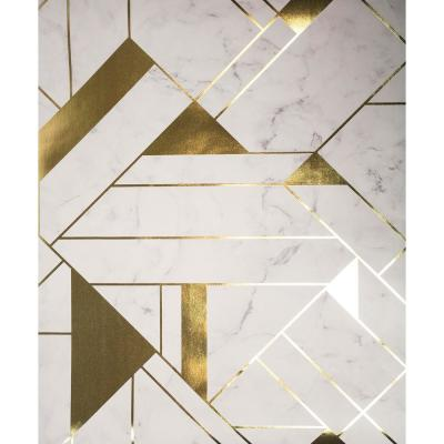 Gulliver Off-White Marble Geometric Wallpaper