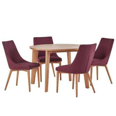 Nobleton 5-Piece Merlot Dining Set