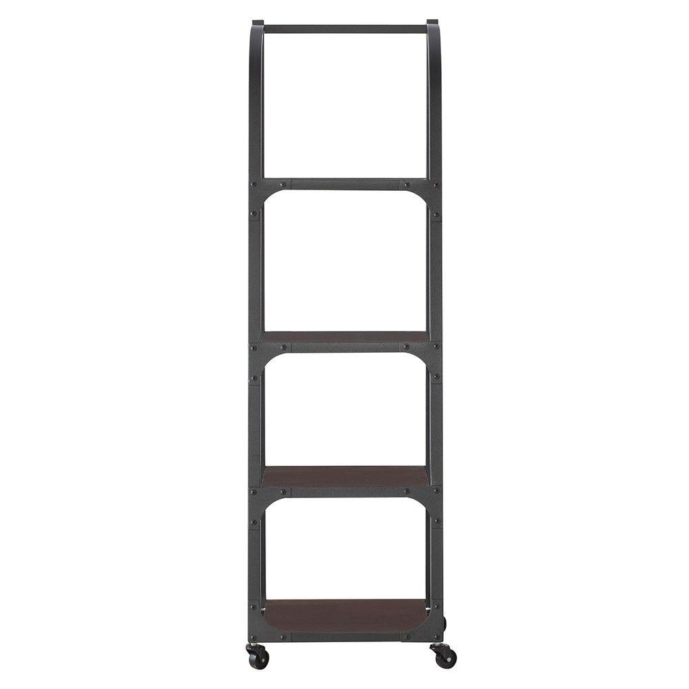 Home Decorators Collection Industrial Empire Black Ladder Bookcase