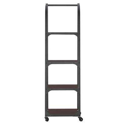 Industrial Empire Black Ladder Bookcase