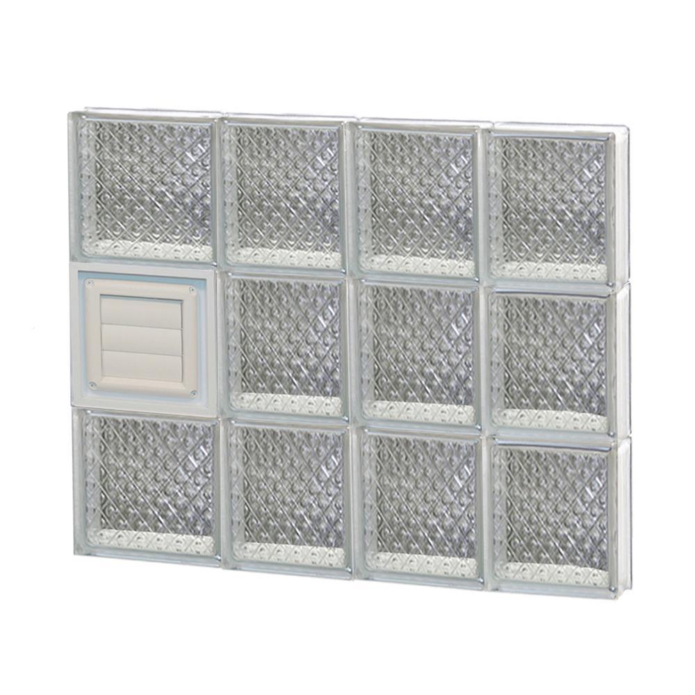 25 in. x 23.25 in. x 3.125 in. Diamond Pattern Glass