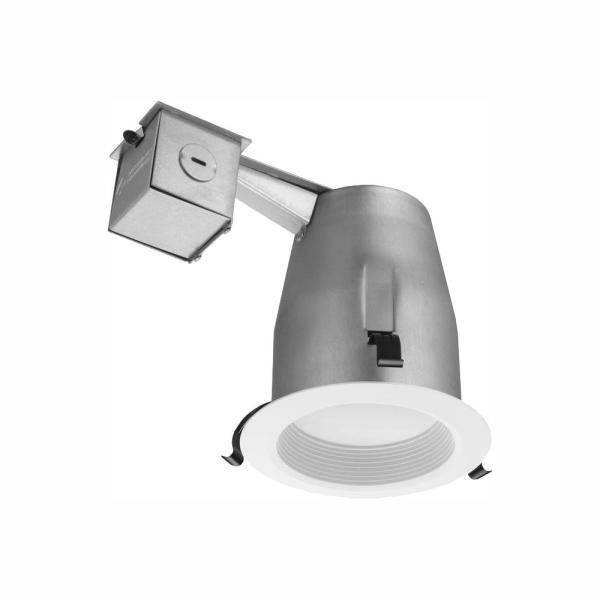 Lithonia Lighting 3 in. Matte White Recessed Baffle Integrated LED Lighting Kit
