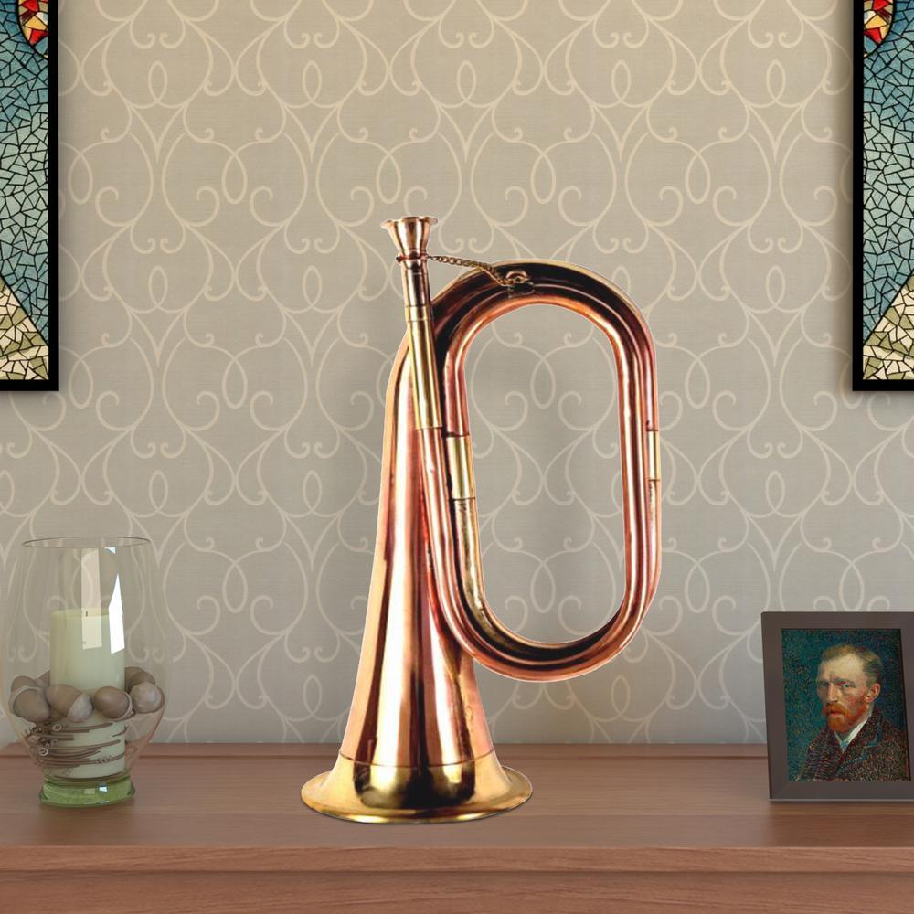 Decorative Gold Copper and Brass Bugle