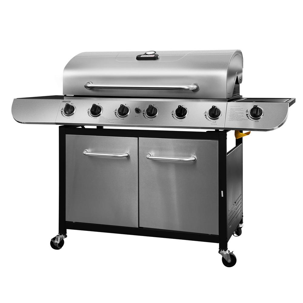 Royal Gourmet 6-Burner Propane Gas Grill in Stainless Ste...