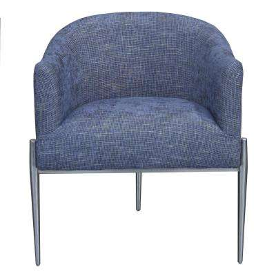 Jolie Contemporary Blue Fabric Upholstered Accent Chair