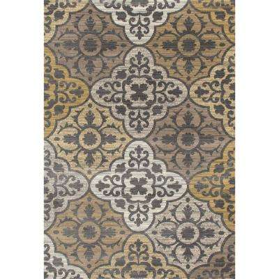 Arabella Tilework Yellow 7 ft. x 9 ft. Area Rug