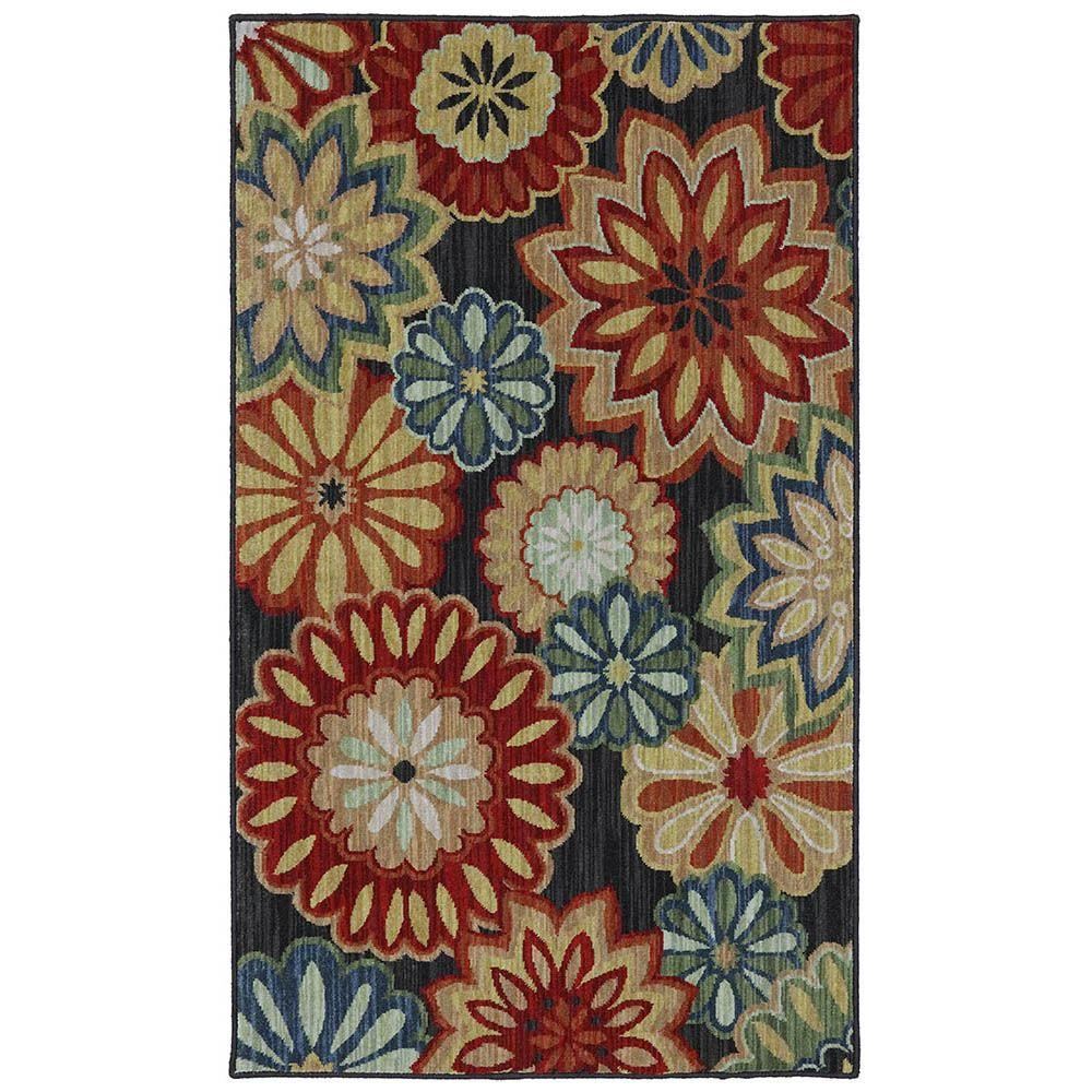 Karastan Ashbury Black 3 ft. 3 in. x 5 ft. 6 in. Accent Rug