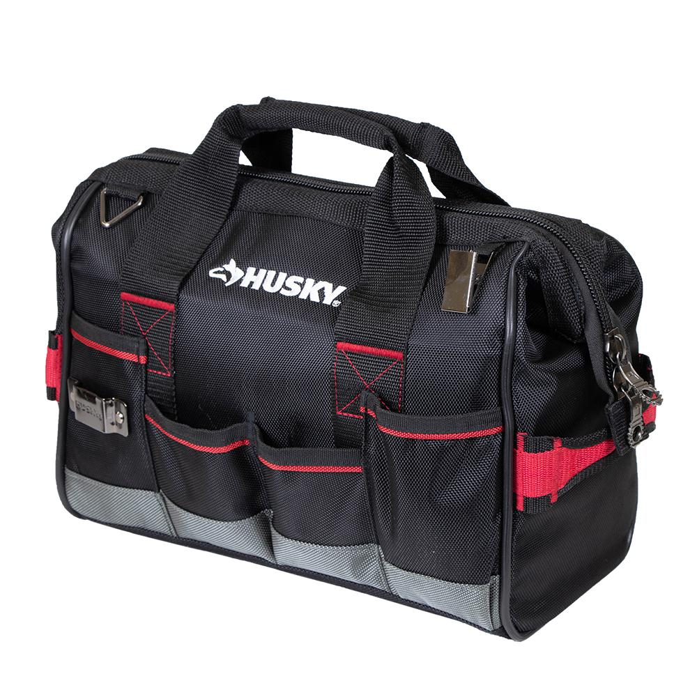 Husky 14 In Large Mouth Tool Bag 67125 02 The Home Depot