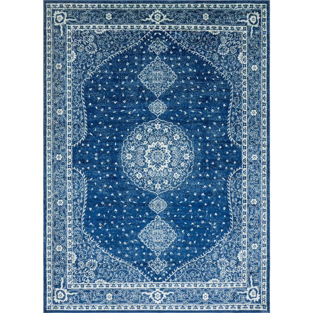 Polypropylene Tufted Rectangle Machine Made Carpet Navy Blue Area Rug 9 x 12 ft