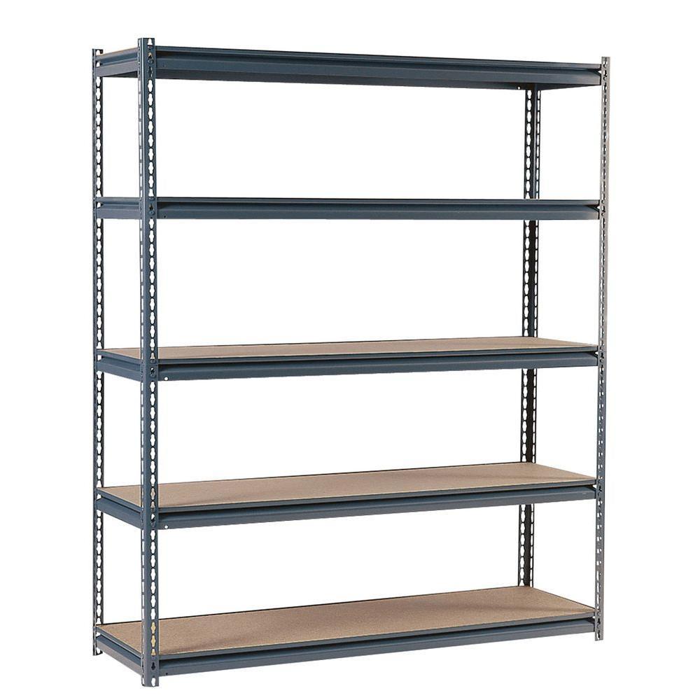 72 in. H x 72 in. W x 24 in. D Steel Commercial Shelving Unit in Gray