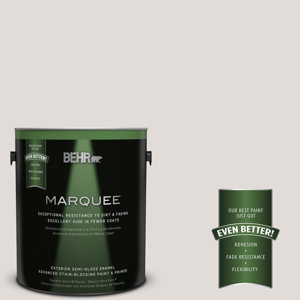 BEHR MARQUEE 1-gal. #PPL-63 Hint of Mauve Semi-Gloss Enamel Exterior Paint